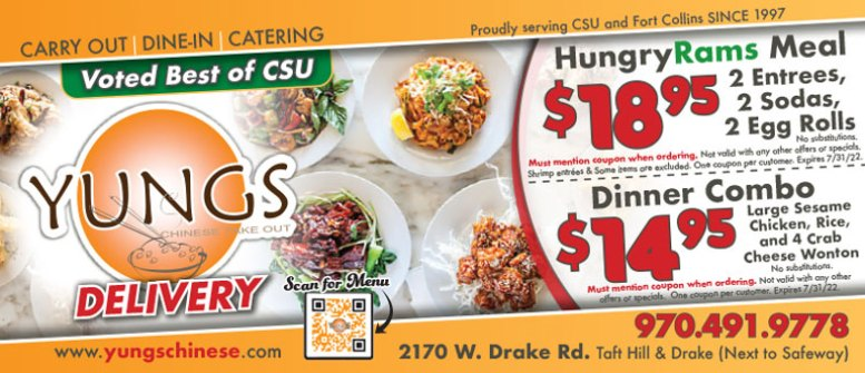 Yungs Chinese Take Out in Fort Collins - Lunch & Dinner Coupon Deals