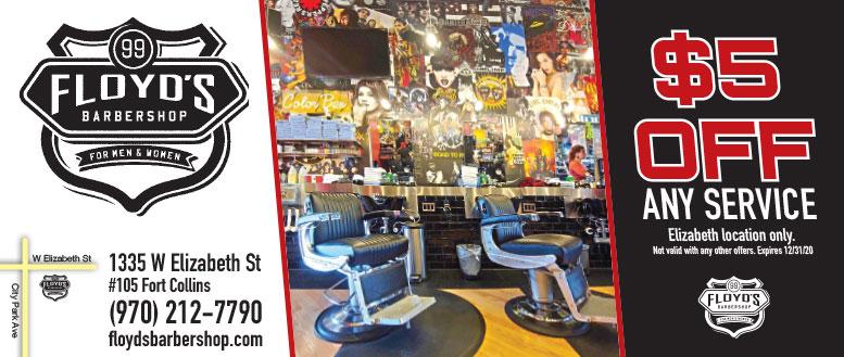 Floyds 99 Barbershop Fort Collins 5 Off Coupon Deal