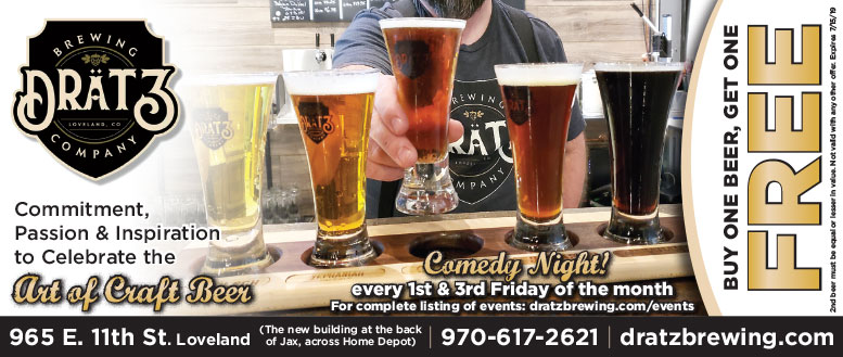Dratz Brewing Company BOGO Beer Coupon in Loveland, CO
