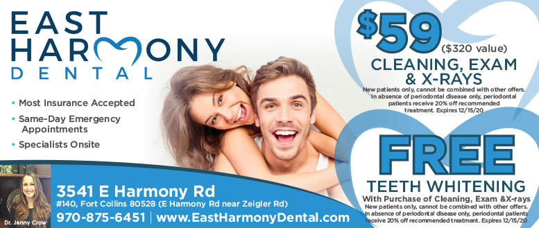 East Harmony Dental, Fort Collins - Teeth Whitening, Cleaning, Exam & X-Ray Coupon Deals