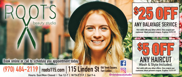 Roots Beauty Studio Balayage & Haircut Coupon Deals in Fort Collins