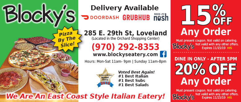 Blocky's Italian Eatery, Loveland - Coupon Deals