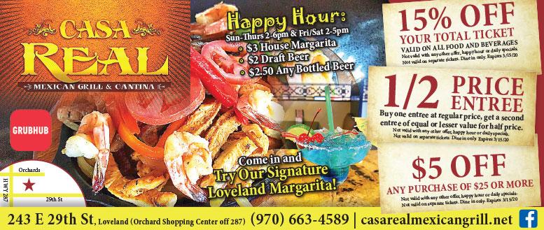 Casa Real Mexican Grill & Cantina, Loveland - Coupon Deals