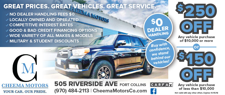 Cheema Motors, Fort Collins - $250 Off Vehicle Purchase
