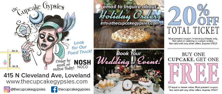 Cupcake Gypsies Loveland, CO - Free Coffee & BOGO Mini Cupcake Coupon Deals
