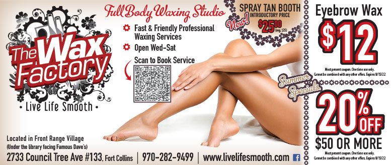 The Wax Factory, Fort Collins - Waxing Services Coupon Deals
