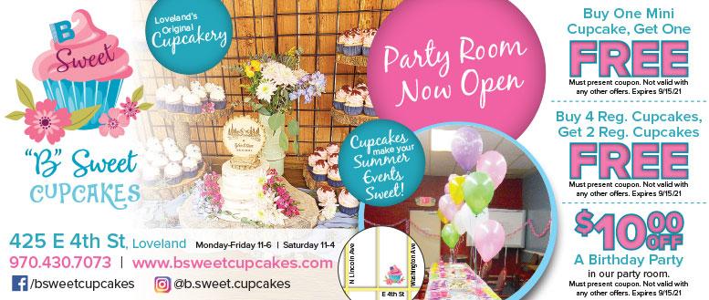 B Sweet Cupcakes, Loveland, CO - BOGO Free Cupcake Coupon Deals