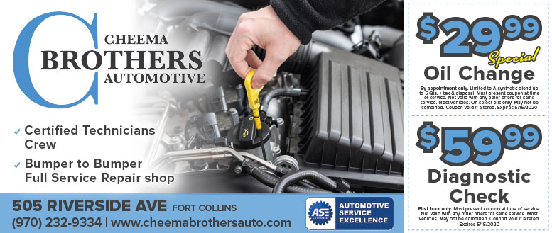 Cheema Brothers Automotive, Fort Collins, CO - Oil Change & Diagnostic Check Coupon Deals