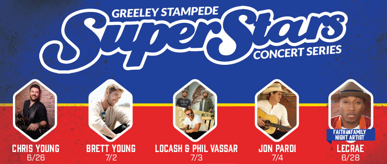 Greeley Stampede SuperStars Concert Series featuring Chris Young, Brett Young, Locash & Jon Pardi