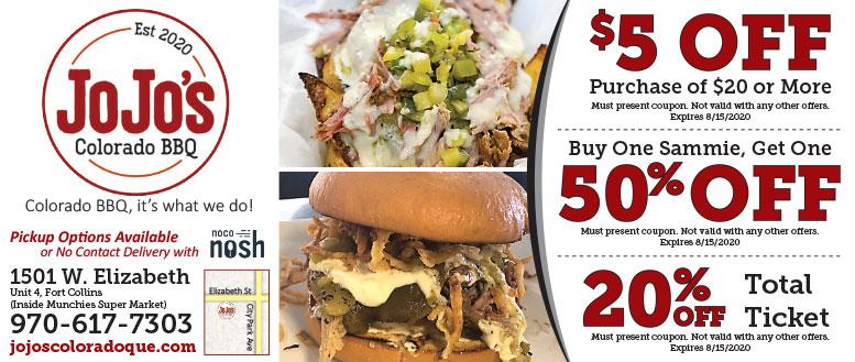JoJo's Colorado BBQ, Fort Collins Coupon Deals