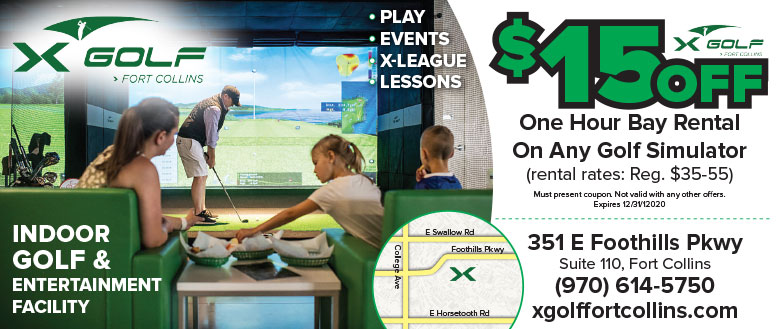 X Golf, Fort Collins coupon deals