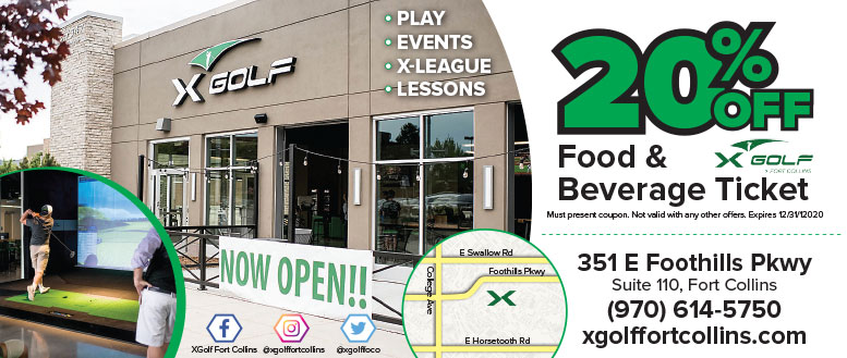 X Golf, Fort Collins - Food & Beverage Coupon Deals