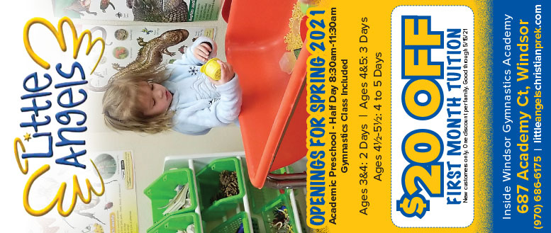 Little Angels Christian Preschool in Windsor, CO - $20 Off Tuition Coupon Deal