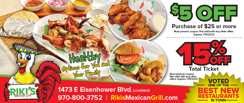 Riki's Mexican Grill Coupon Deals in Loveland, NoCo