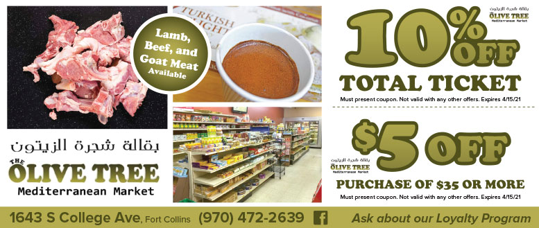The Olive Tree Mediterranean Market, Fort Collins, NoCo Coupon Deals