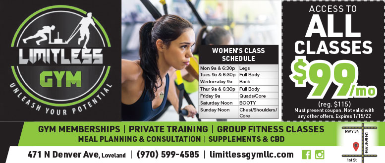 Limitless Gym Fitness Classes Coupon Deals in Loveland, NoCo