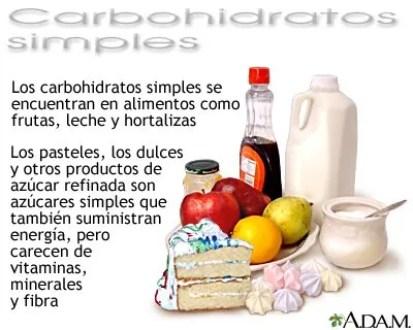 carbohidratos simples