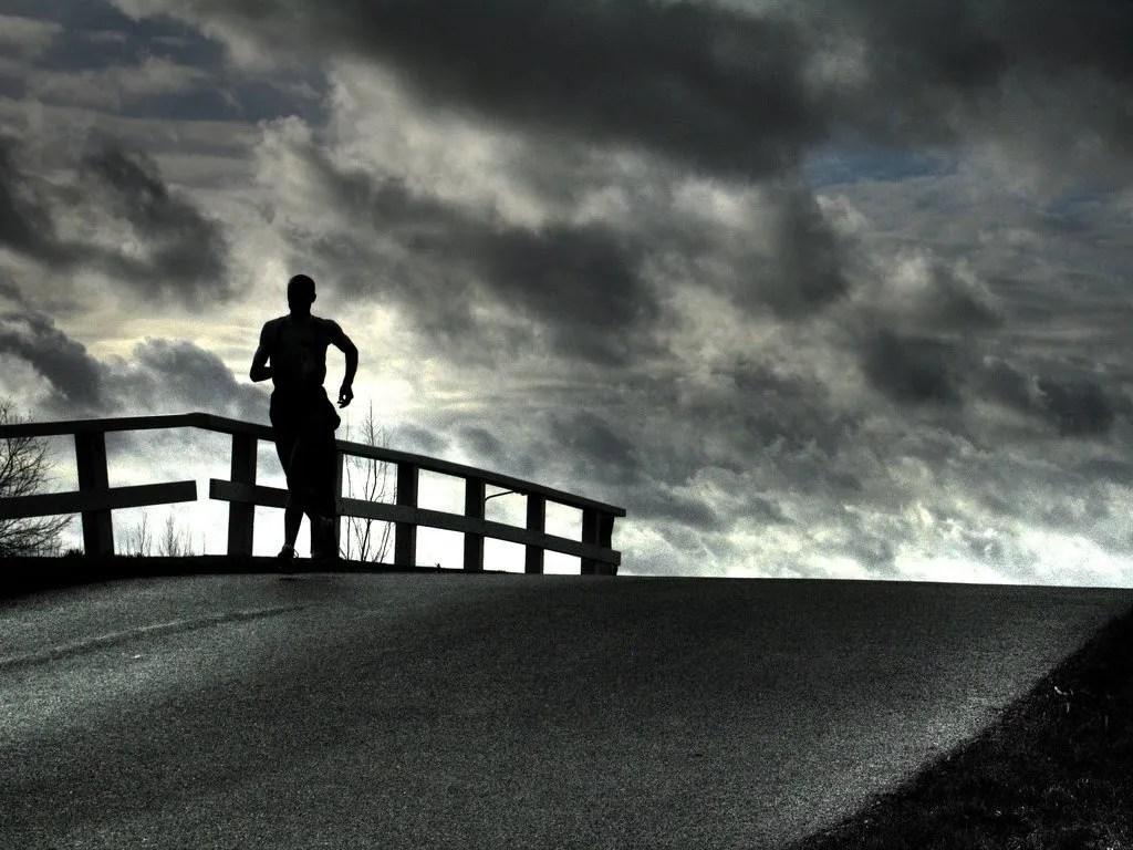 sufrimiento del corredor