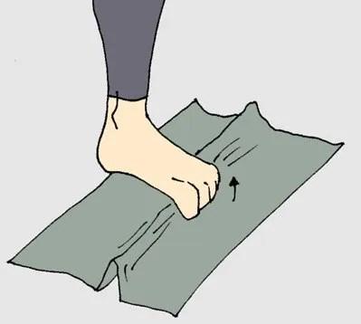ejercicio toalla musculatura intrínseca del pie