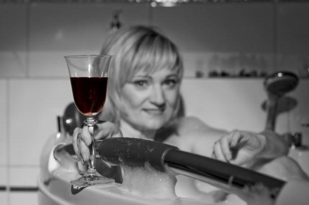 Relaks w wannie