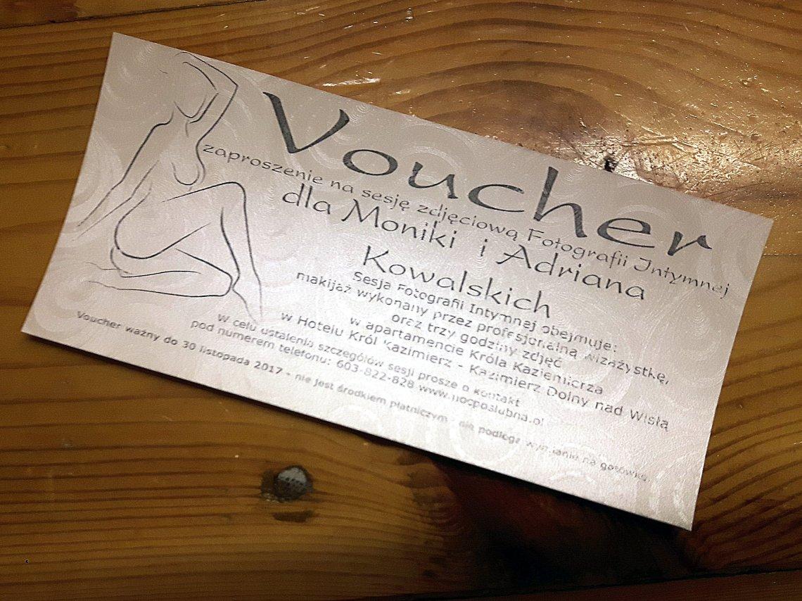 Voucher na sesję zdjęciową