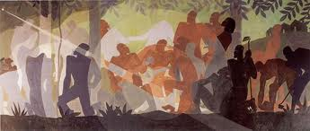 Jacob Lawrence and Aaron Douglas
