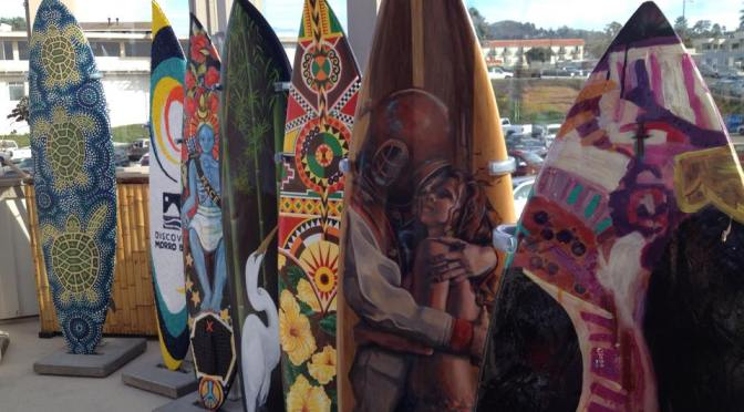 Did you miss it! The First Annual Surfboard Art Festival @morrobayinbloom #NoCriticsJustArtists