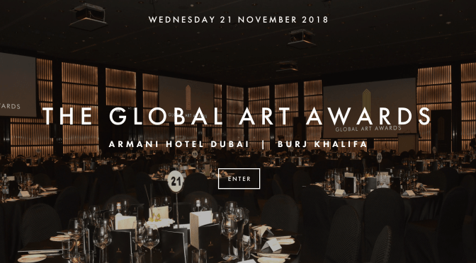 Don't Miss It!!! The 2018 #GlobalArtAwards in @VisitDubai more on #NoCriticsJustArtist
