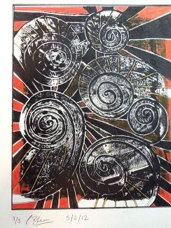 Spirals - red