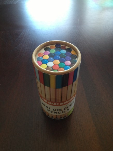 Kid Made Modern mini pencils. Beautiful colors.