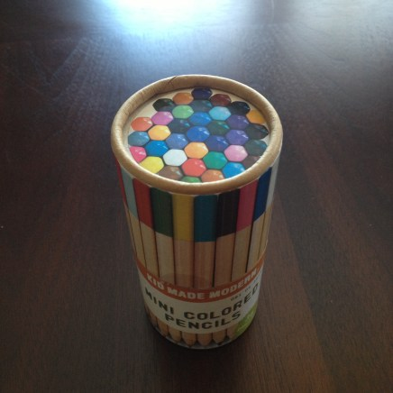 Kid Made Modern mini pencils. Beautiful colors.