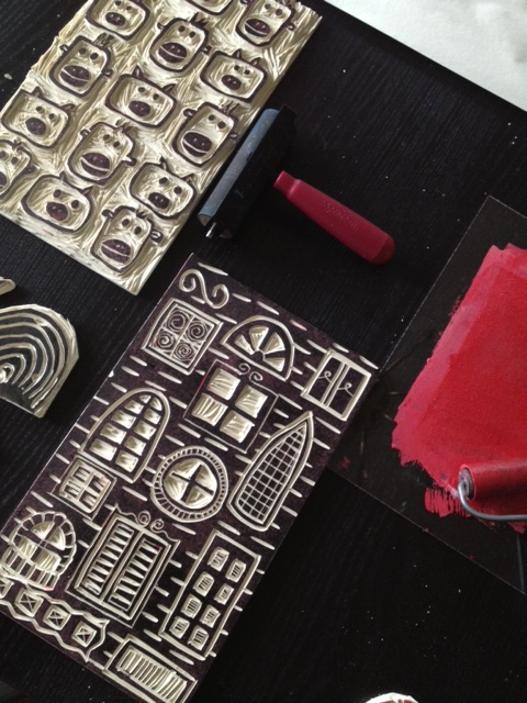 The aftermath - happy printmaking