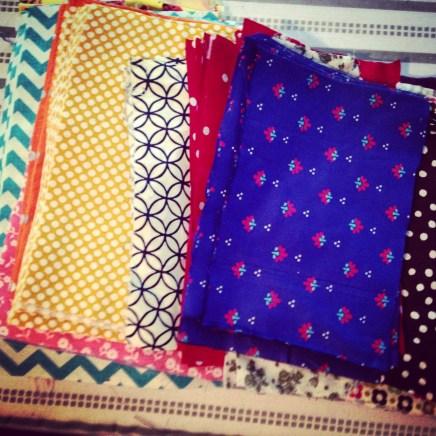 Fabrics, sorted and ready.