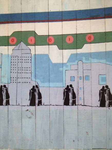 Close up of Cable Street mural