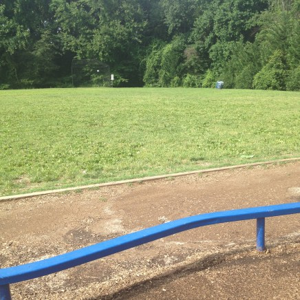 Field waiting to be played in by campers