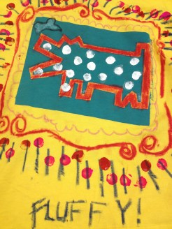 Screen printed Haring dogs