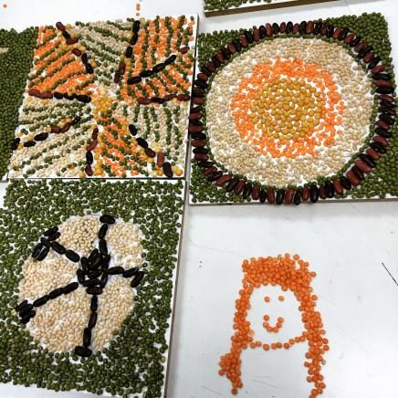 Bean mosaics