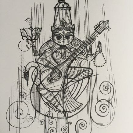 Sketch for Saraswati