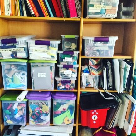 decluttering the work room
