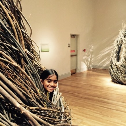 Patrick Dougherty - Shindig ...(with one of my children posing!)