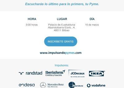 Diseño y Creación de Mailing publicitario para Evento Impulsando Pymes