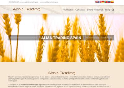 Diseño Web para empresa distribuidora Cereales orgánicos