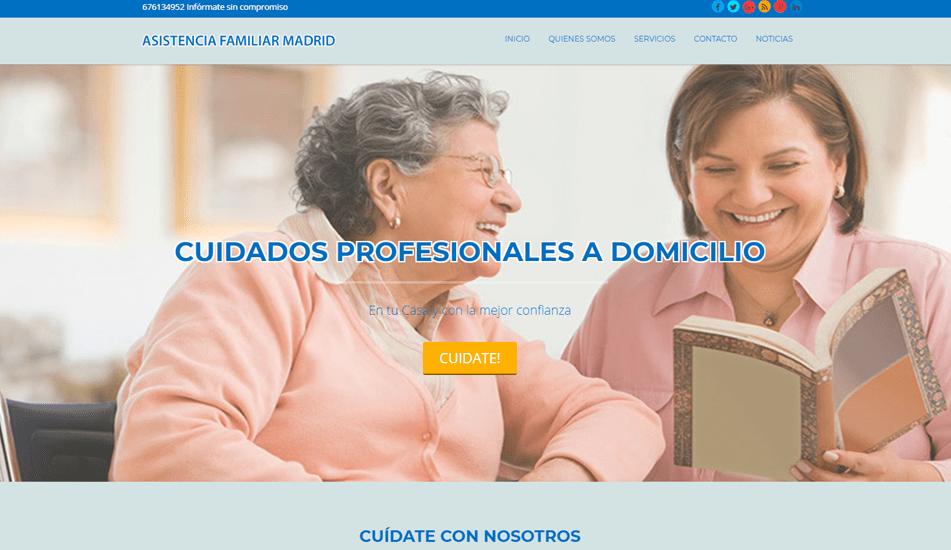 pagina web asistencia domicilio