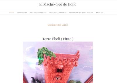 Diseño Web para Artista El Maché Óleo de Hono