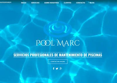 Diseño Web Empresa Mantenimiento Pisicinas Pool Marc