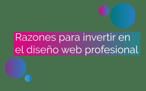 Razones para invertir en el diseño de una página web profesional