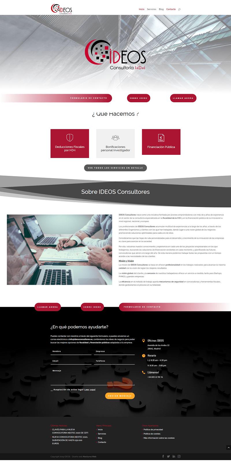 Diseño web Ideos Consultores