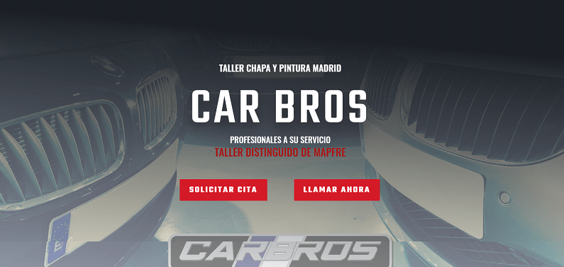 Diseño web Car Bros Taller Madrid