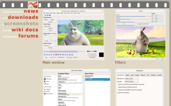 Ediror de vídeo Avidemux