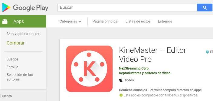 Ediror de vídeo KineMaster